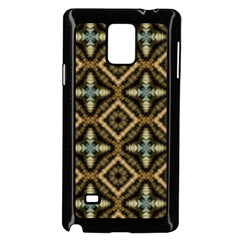 Faux Animal Print Pattern Samsung Galaxy Note 4 Case (Black)