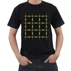 Faux Animal Print Pattern Men s T-Shirt (Black) (Two Sided)