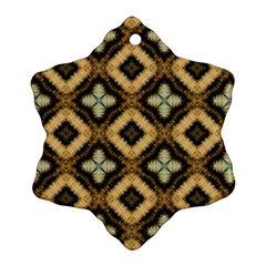 Faux Animal Print Pattern Snowflake Ornament (2-Side)