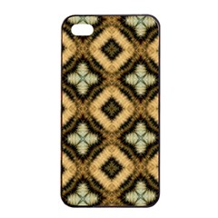 Faux Animal Print Pattern Apple iPhone 4/4s Seamless Case (Black)