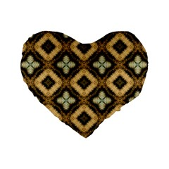 Faux Animal Print Pattern Standard 16  Premium Flano Heart Shape Cushions