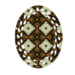 Faux Animal Print Pattern Ornament (oval Filigree)