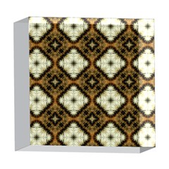 Faux Animal Print Pattern 5  x 5  Acrylic Photo Blocks