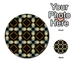 Faux Animal Print Pattern Multi-purpose Cards (Round)