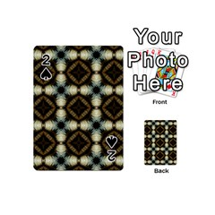 Faux Animal Print Pattern Playing Cards 54 (Mini)