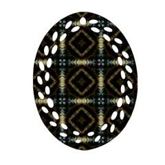 Faux Animal Print Pattern Ornament (Oval Filigree)
