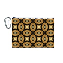 Faux Animal Print Pattern Canvas Cosmetic Bag (M)
