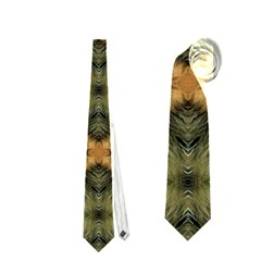 Faux Animal Print Pattern Neckties (One Side)