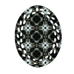 Faux Animal Print Pattern Oval Filigree Ornament (2-Side)