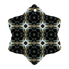 Faux Animal Print Pattern Snowflake Ornament (2 Side)