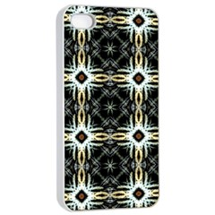 Faux Animal Print Pattern Apple iPhone 4/4s Seamless Case (White)