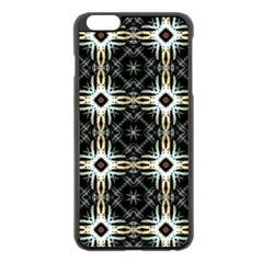 Faux Animal Print Pattern Apple iPhone 6 Plus Black Enamel Case