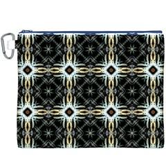 Faux Animal Print Pattern Canvas Cosmetic Bag (xxxl)