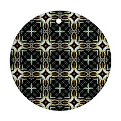Faux Animal Print Pattern Round Ornament (two Sides)