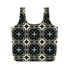 Faux Animal Print Pattern Full Print Recycle Bags (M)