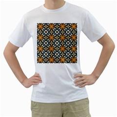 Faux Animal Print Pattern Men s T-Shirt (White) (Two Sided)