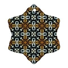 Faux Animal Print Pattern Snowflake Ornament (2 Side)