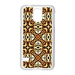 Faux Animal Print Pattern Samsung Galaxy S5 Case (White)