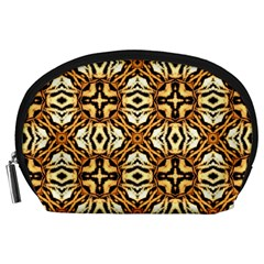 Faux Animal Print Pattern Accessory Pouches (Large)