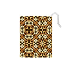 Faux Animal Print Pattern Drawstring Pouches (Small)