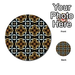 Faux Animal Print Pattern Multi-purpose Cards (Round)