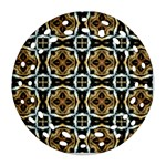Faux Animal Print Pattern Ornament (Round Filigree)  Front