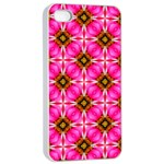 Cute Pretty Elegant Pattern Apple iPhone 4/4s Seamless Case (White) Front