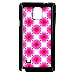Cute Pretty Elegant Pattern Samsung Galaxy Note 4 Case (Black)