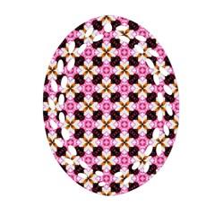 Cute Pretty Elegant Pattern Ornament (Oval Filigree)
