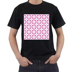 Cute Pretty Elegant Pattern Men s T-Shirt (Black) (Two Sided)
