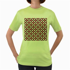 Cute Pretty Elegant Pattern Women s Green T Shirt