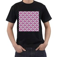 Cute Pretty Elegant Pattern Men s T Shirt (black) (two Sided)