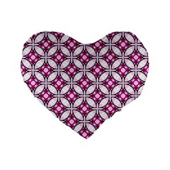 Cute Pretty Elegant Pattern Standard 16  Premium Flano Heart Shape Cushions