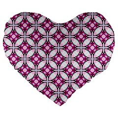 Cute Pretty Elegant Pattern Large 19  Premium Flano Heart Shape Cushions