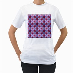 Cute Pretty Elegant Pattern Women s T-Shirt (White) (Two Sided)
