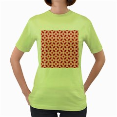 Cute Pretty Elegant Pattern Women s Green T-Shirt