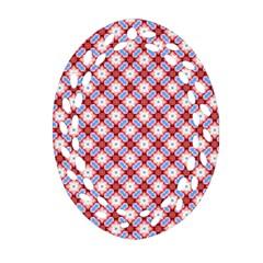 Cute Pretty Elegant Pattern Oval Filigree Ornament (2-Side)