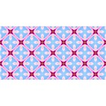 Cute Pretty Elegant Pattern ENGAGED 3D Greeting Card (8x4)  Front