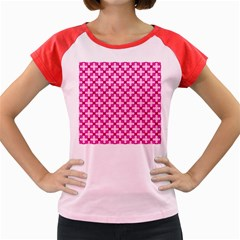 Cute Pretty Elegant Pattern Women s Cap Sleeve T-Shirt