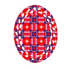 Cute Pretty Elegant Pattern Oval Filigree Ornament (2 Side)