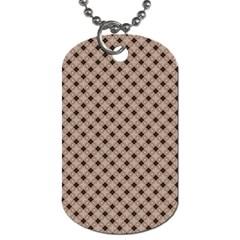 Cute Pretty Elegant Pattern Dog Tag (Two Sides)