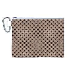 Cute Pretty Elegant Pattern Canvas Cosmetic Bag (L)