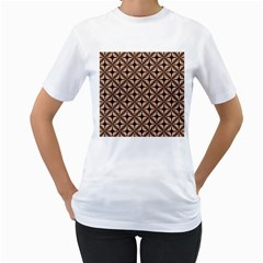 Cute Pretty Elegant Pattern Women s T Shirt (white) (two Sided)