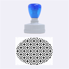 Cute Pretty Elegant Pattern Rubber Oval Stamps