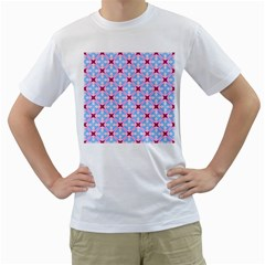 Cute Pretty Elegant Pattern Men s T-Shirt (White) (Two Sided)