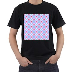 Cute Pretty Elegant Pattern Men s T Shirt (black)