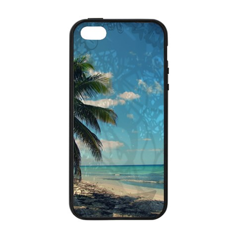 Caribbean Blue Apple iPhone 5/5S Soft Edge Hardshell Case