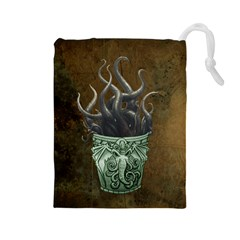 MonsterCup-Large Drawstring Pouch (Large)