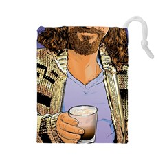 Whiterussian Large Drawstring Pouch (large)