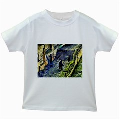 Banks Of The Seine KPA Kids White T-Shirts